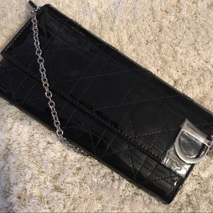 Dior Cannage Patent Leather Lady Dior Clutch